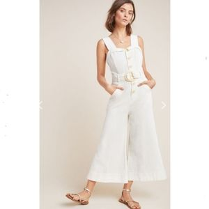 Anthropologie ivory Cape Cod jumpsuit NWOT